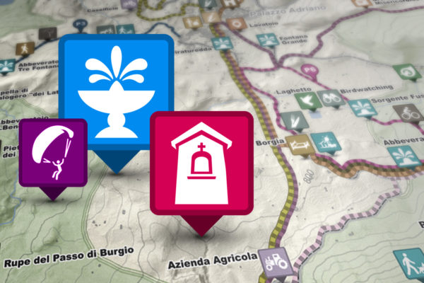 Icone mappa turistica - Sicani Experience