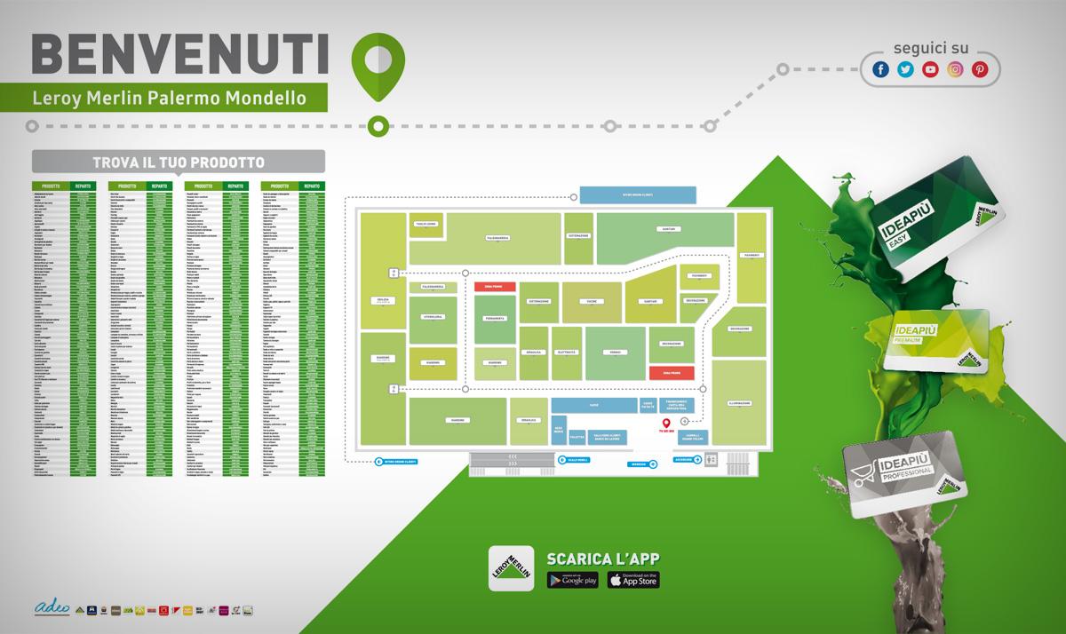 Department stores map - Leroy Merlin