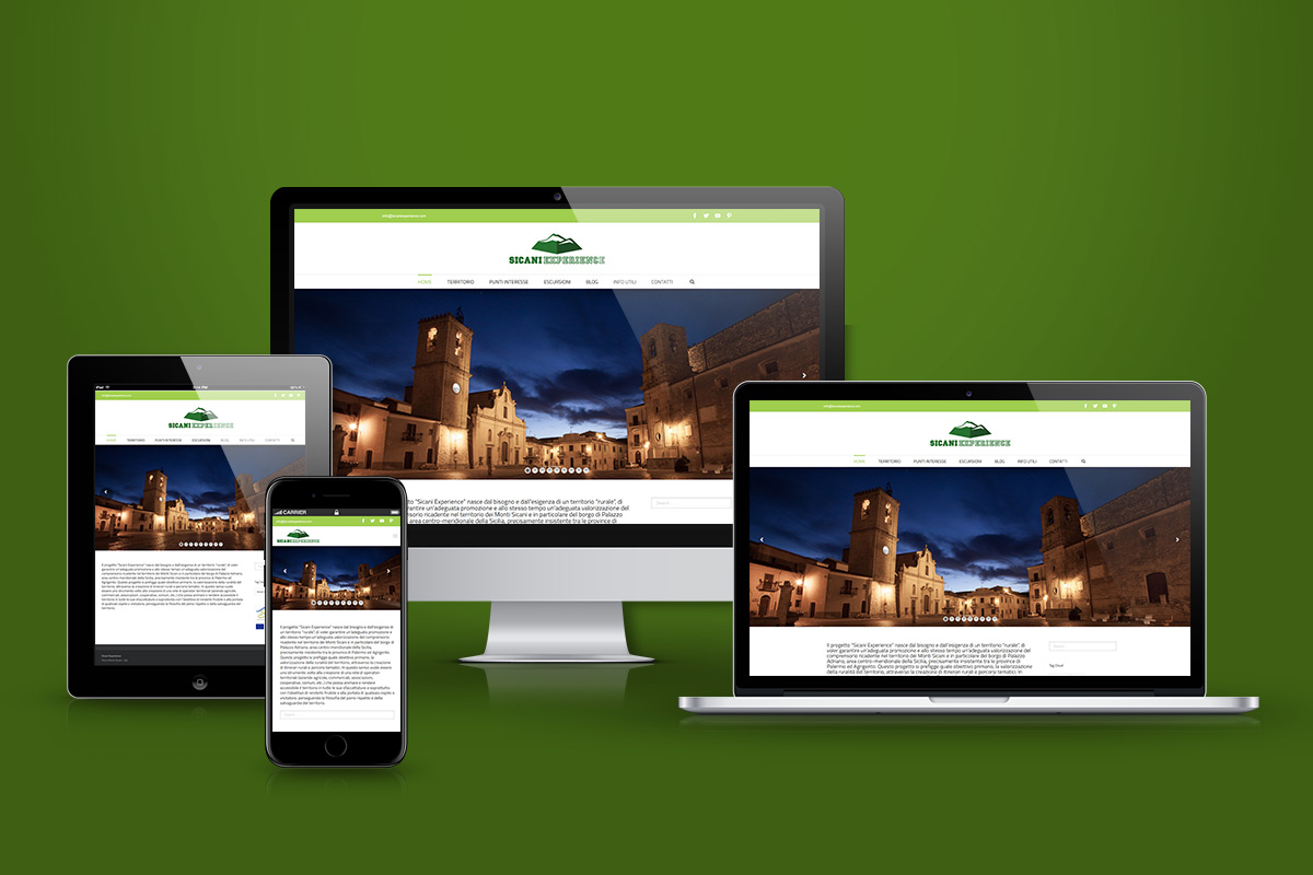 Sicani Experience - multiple display layout